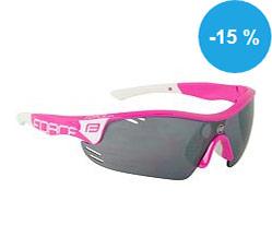 Prohlédnout Brýle FORCE RACE PRO růžovo-bílé, černá laser skla - 909397 na Kupkolo.cz