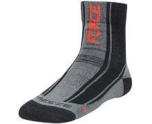 Zimní ponožky Force FREEZE Merino, černá-červená