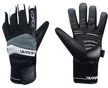 Zimní rukavice FORCE SORTED - Warm, černé - 90457