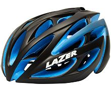 Helma silniční LAZER O2, černá/modrá EPS