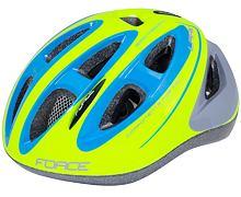 Dětská helma Force LARK, fluo-modrá
