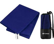 Ručník FORCE cestovní 40x80cm mikrovlákno, modrý